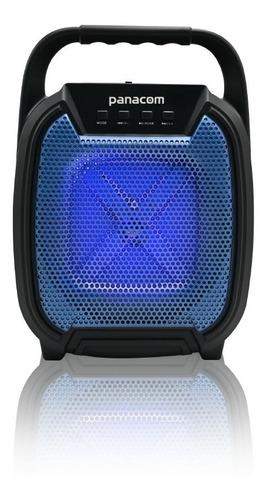 Imagen 1 de 1 de Parlante Portátil Panacom Sp3040 Led Karaoke Bt Usb Fm Aux