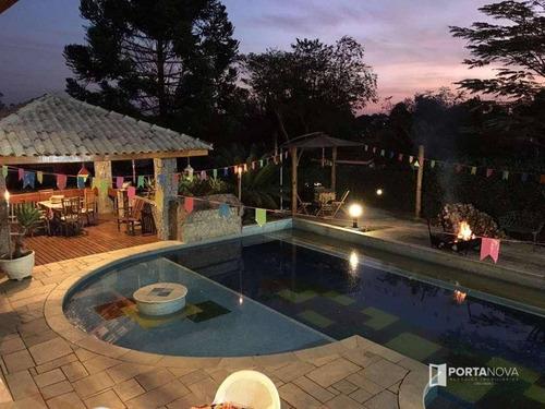 Casa Com 4 Dormitórios À Venda, 700 M² Por R$ 2.600.000,00 - Recanto Suíço - Vargem Grande Paulista/sp - Ca0315