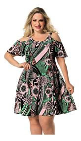 Vestido Roupas Femininas Plus Size Ciganinha Madrinha Festa