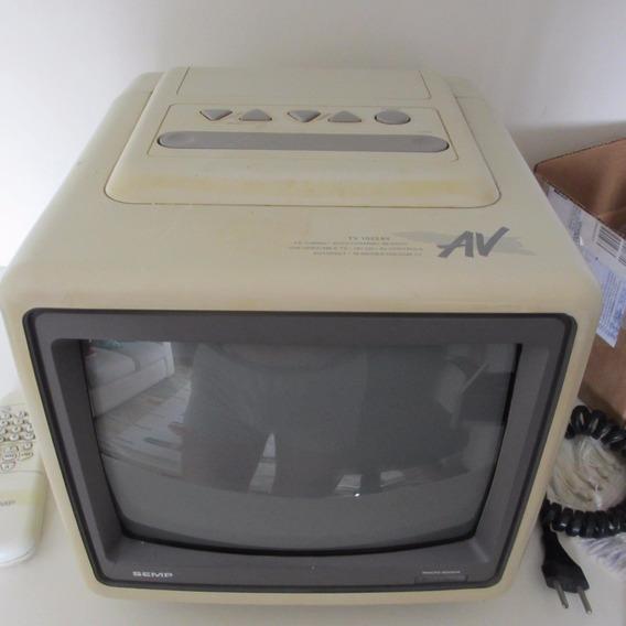 Tv Semptoshiba 10 Polegadas Colorida Com Entrada De Áudio