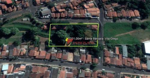Terreno Residencial À Venda, Vila Grego, Santa Bárbara D'oeste. - Te0490