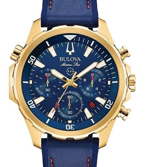 Relógio Bulova Masculino Star Marine Crono 97b168