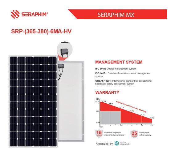 Panel Solar Módulo Fotovoltaico 380w Seraphim Monocristalino