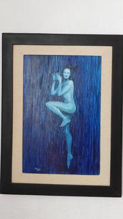 Pintura Al Óleo: La Lluvia, De Aleyra Corral
