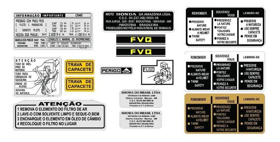 Etiqueta De Precaução Cb 400 - Adesivos Honda - Frete Grátis