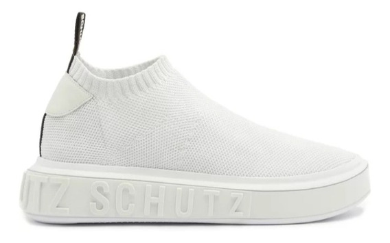 Sneaker It Schutz Bold Knit White. Tenis Schuts Original