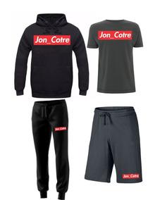 Kit Moletom Camiseta Bermuda Calça Moleton Jon Cotre Griffe