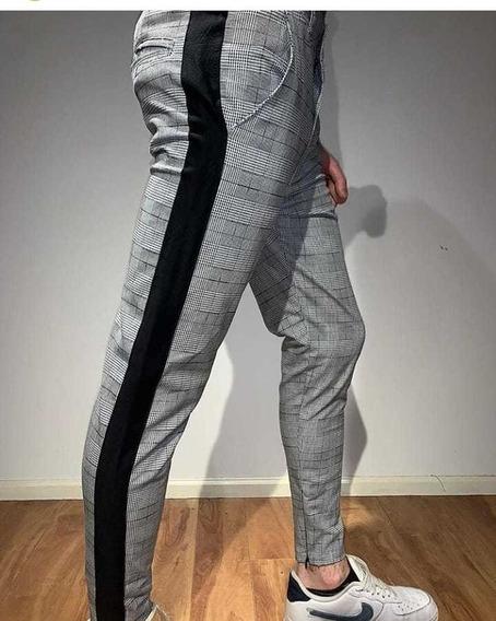 Pantalon Rayado Chupin Hombre Mercadolibre Com Ar
