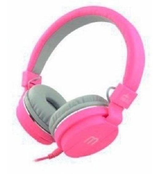 Fone Ouvido Favix F2023 P2 Colorido Com Microfone Rosa