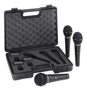 Juego 3 Micrófonos Dinámicos Behringer Xm1800s + Garantía
