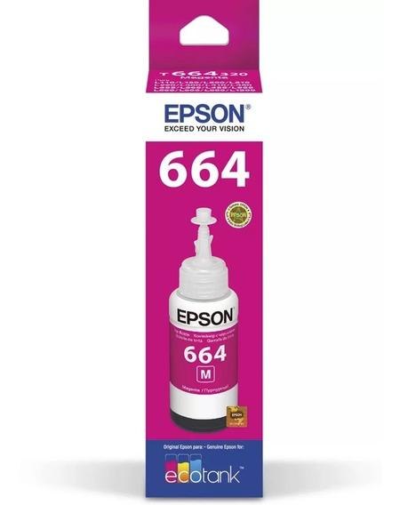 50 Epson T664 Magenta Original L220 L395 L455 L380 L130