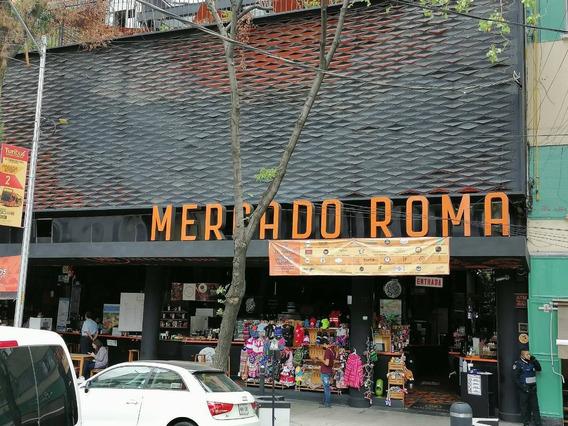 Traspaso Excelente Local En Mercado Roma.
