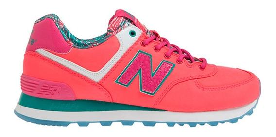 Zapatillas Nb New Balance 574 Originales Mujer Rosas Colores