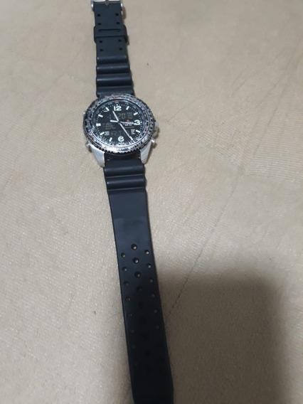 Relógio Citizen Promaster Com Horário Mundial.
