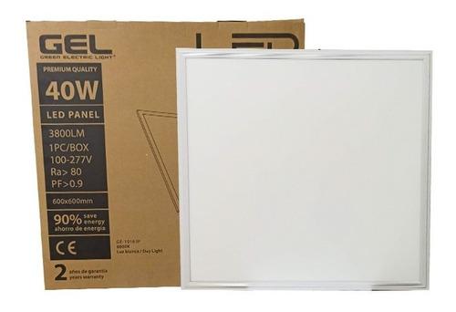 Lampara Panel Led 40w 60x60 6000k 3800lm 100/277v Gel Led