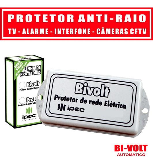 Protetor Contra Surtos Elétricos Raios Tv Câmera Dvr Alarme