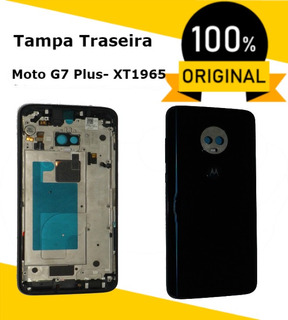 Caixa Traseira Moldura Tela Azul Xt1965 Moto G7 Plus Sensor