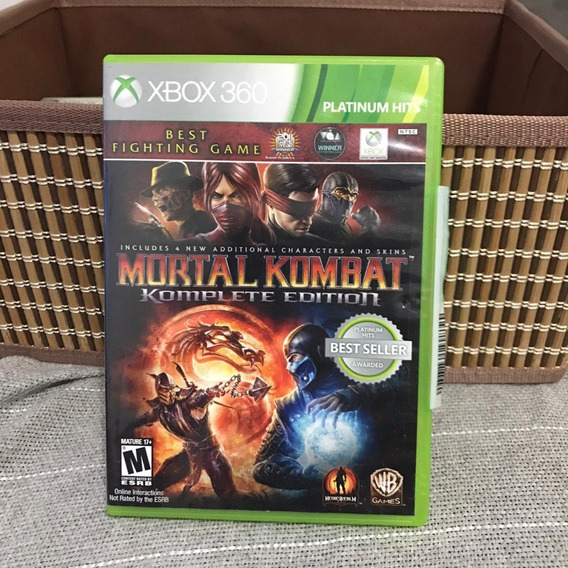 Mortal Kombat: Komplete Edition - Xbox 360 - Mídia Física