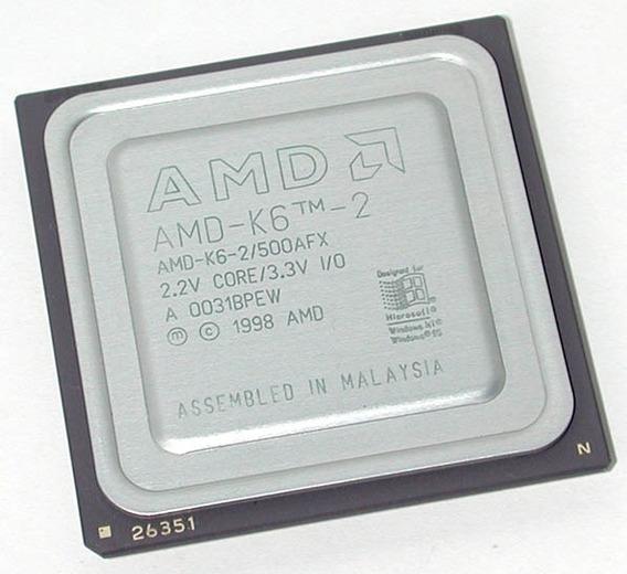 Processador Amd 7 K6-2/500afx - Semi Novo - Raro