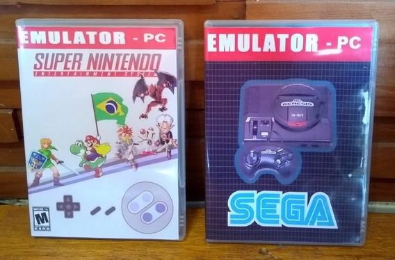 Emulador Super Nintendo + Emulador Mega Drive - Pc/notebook