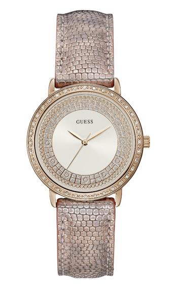 Relógio Feminino Guess Rose Gold Couro 92288lpgdrc8z C/ Nfe