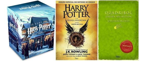 Harry Potter Caixa 7 Livros + Criança Amaldiçoada +quadribol