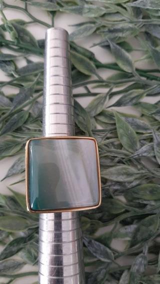 Anel Pedra Natural Ágata Verde