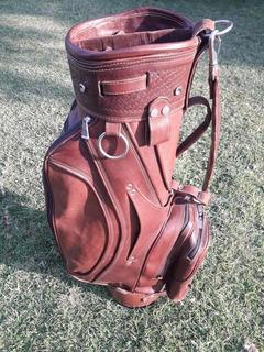 Bolsa De Golf Cuero Marron