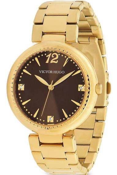 Relógio Victor Hugo Luxo Feminino - Vh10154lsg/12m