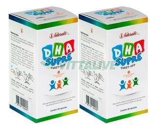 Kit 2x Dha Supre Twist-off Ômega Infantil 30 Caps Naturalis