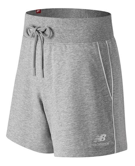 Short Mujer New Balance Essentials Pinstripe Ws91592