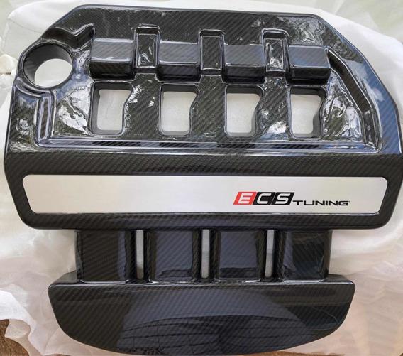 Capa Do Motor Ecs Tuning Fibra De Carbono Vw Gti Mk7 Audi 8v