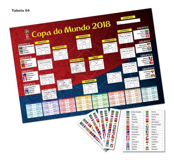 Placa Tabela Copa Do Mundo 2018 Editável Mdf3mm Mod04
