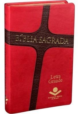 Bíblia Sagrada Ra Letra Grande - Capa Emborrachada - Luxo