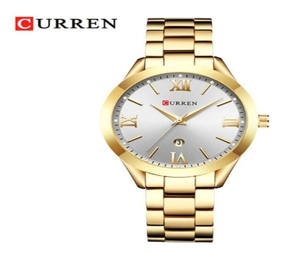 Relógio Feminino Curren Original 9007 Casual Top De Linha.