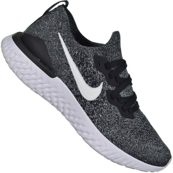 Tênis Nike Epic React Flyknit 2 Cinza/preto/branco