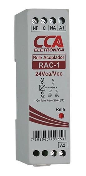 Relé Acoplador Interface 24vcc / Vca C/ 1 Contato Reversível