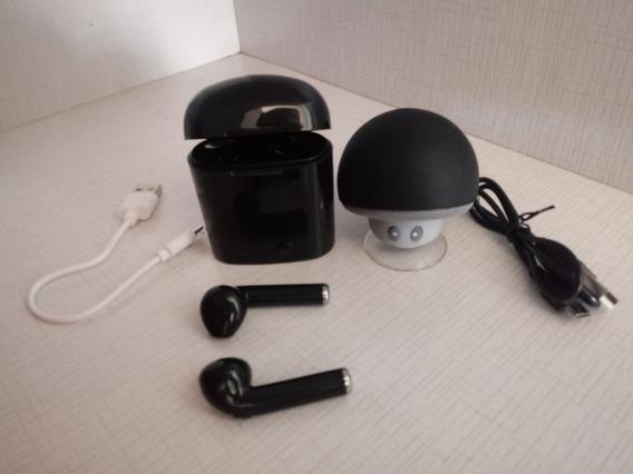 Oferta. Fone Bluetooth + Caixinha Bluetooth Com Ventosa