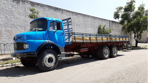 Mb 1313 81 6x2 Truck Carroceria Hidráulico Turbo