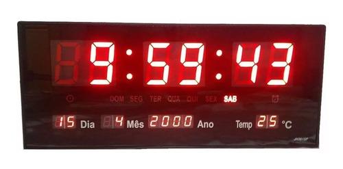Relógio Led Parede Grande Digital Cozinha Academia