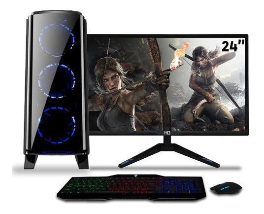 Pc Gamer Intel/ Core I5/ 8gb/ 1tb/ Radeon Rx 550/ Monitor 24
