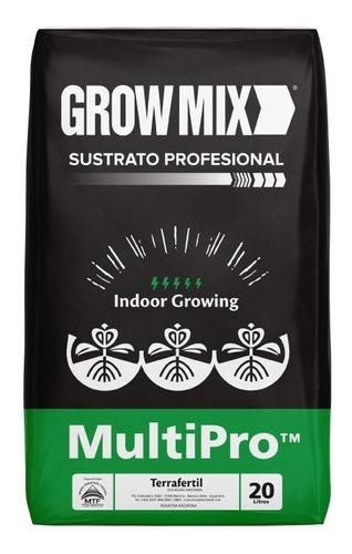 Sustrato Grow Mix Multipro Indoor Growing Terrafertil 20lts