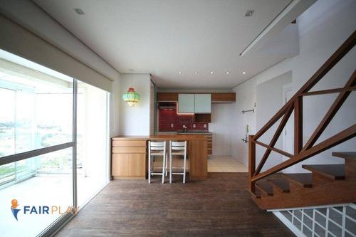 Apartamento Duplex 60m 1 Dormitorio 2 Vagas Com Lazer Completo Na Chacara Santo Antonio - Ap6134