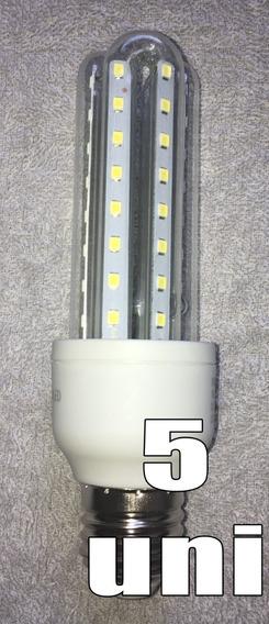 Kit 5 Lampadas De Led 9w 3u