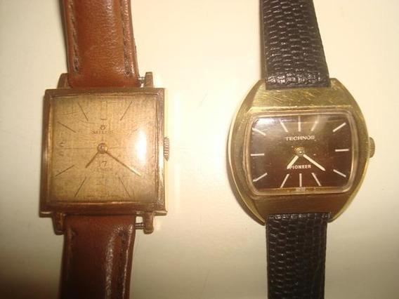 Kit 2 Antigos Relógios Femininos De Corda - Made Suissa -