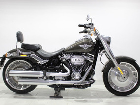 Harley Davidson Softail Fat Boy 114 2018 Cinza