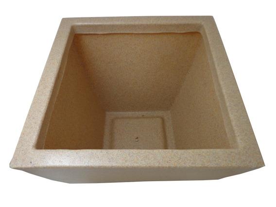 Vaso Planta De Plástico Quadrado Pequeno Frete Grátis Bege