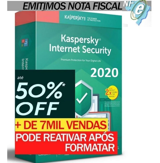 Kaspersky Internet Security 3 Pc 1 Ano Entrega Em 30min