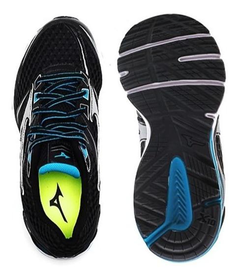 Tênis Mizuno Running Iron 2 N Preto Pisada Neutra 007780