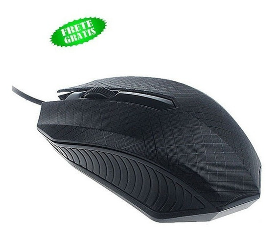 Mouse Gamer Com Fio Cor Preto Usb 1200 Dpi Notbook Leptop Pc